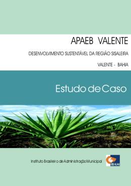 APAEB VALENTE Estudo de Caso