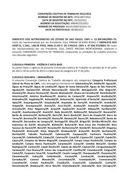 Convencao Coletiva Hospital/Clinica (SINDHOSP)
