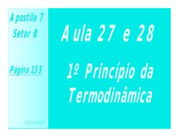 Aula 27 e 28 - 1º Princípio da termofinâmica