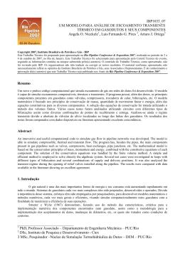 Departamento de Engenharia Mecânica – PUC/Rio DSc