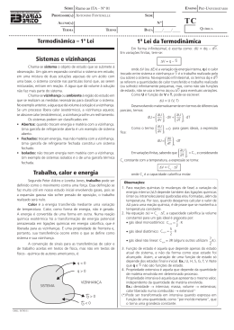 Termodinâmica - Projeto Rumo ao ITA