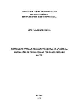sistema de detecção e diagnóstico de falha aplicado a instalações