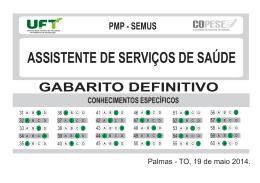 ASSISTENTE DE SERVIÇOS DE SAÚDE