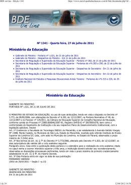 BDE on-line - Edição 1341