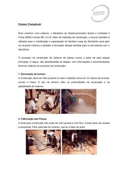 Como construir uma Cisterna
