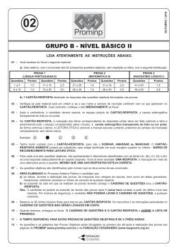 PROVA 2 - GRUPO B - NÍVEL BÁSICO II.indd
