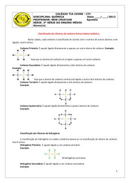 Classificação do Carbono e Clafficação das