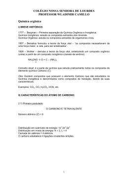 Lista 2 e 3 ano QORGANICA - Colégio Nossa Senhora de Lourdes