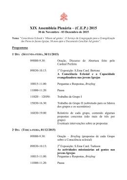 Programa - Vatican.va