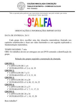 9º EF Alfa - Trabalho - CIC