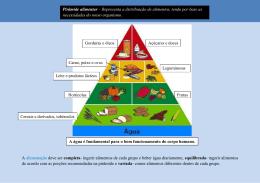 A alimentação deve ser completa- ingerir alimentos de cada grupo e
