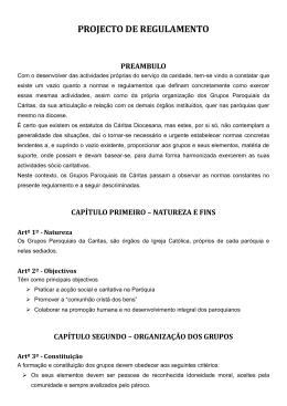 proposta - Cáritas Portuguesa