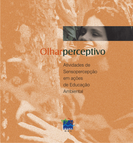 Olhar Perceptivo - Atividades de Sensopercepção em ações