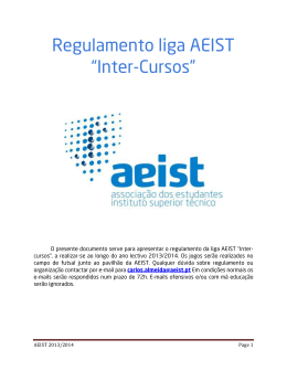 "Regulamento liga AEIST ""Inter"