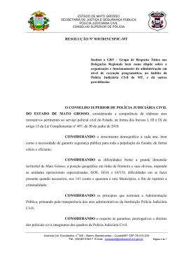 Resolução 018.2015. INSTITUI O GRUPO DE