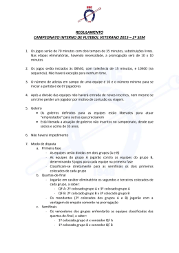 REGULAMENTO CAMPEONATO INTERNO DE FUTEBOL