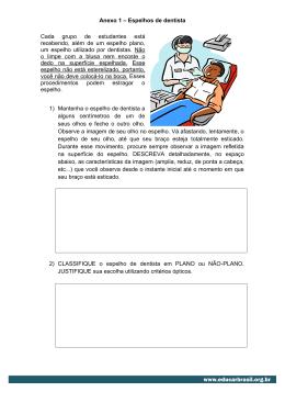 Anexo 1 – Espelhos de dentista Cada grupo de estudantes