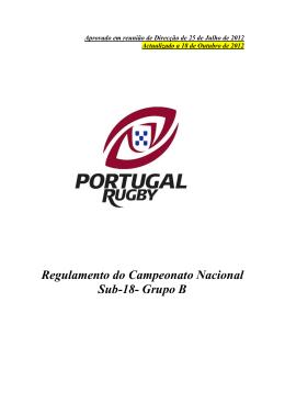 Regulamento do Campeonato Nacional Sub-18