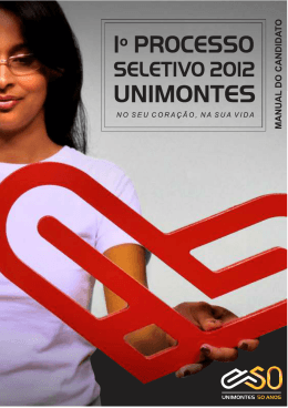 Manual do Candidato - Cotec - Universidade Estadual de Montes
