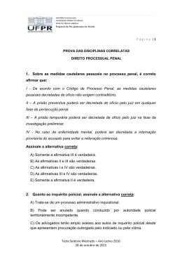 Direito Processual Penal - Programa de Pós