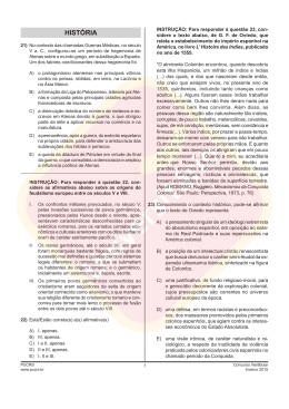 Prova de História | Vestibular PUCRS 2015/2