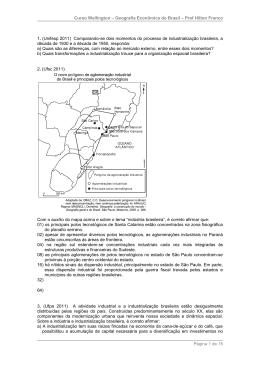 Curso Wellington – Geografia Econômica do Brasil