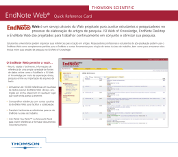 EndNote Web - Thomson Reuters