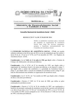 Resolução CNAS n.14 Eleições da sociedade civil