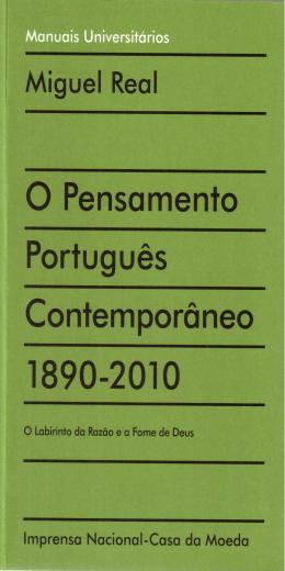 O Pensamento Português Contemporâneo 1890-2010