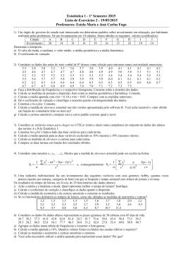 Lista de exercícios 2 - Universidade Federal de São Carlos