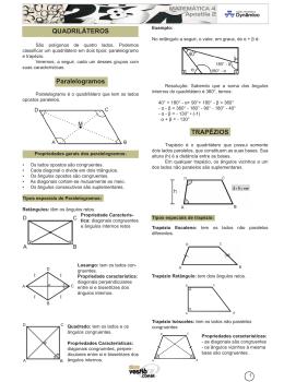 QUADRILÁTEROS Paralelogramos TRAPézIOS