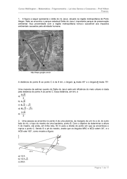 Matemáica – Trigonometria – Senos e Cossenos