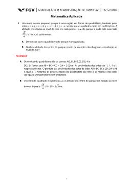 Resolução da Prova de Matemática Aplicada