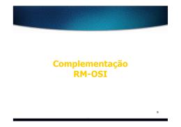 Complementação RM-OSI