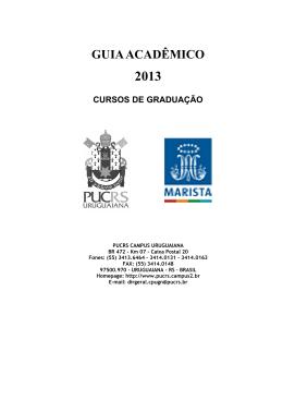 GUIA ACADÊMICO - PUCRS Campus Uruguaiana