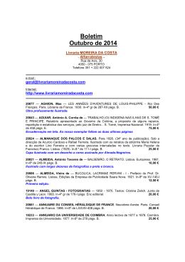 Boletim Outubro de 2014 - Moreira da Costa