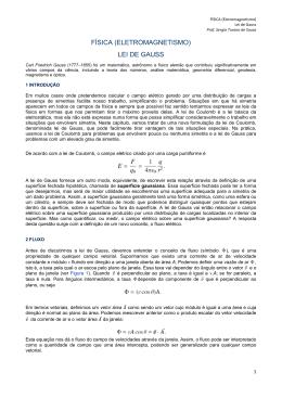 FÍSICA (ELETROMAGNETISMO) LEI DE GAUSS
