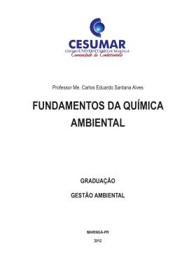 FUNDAMENTOS DA QUÍMICA AMBIENTAL