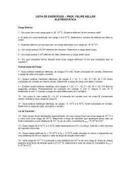 Lista 04 - Eletrostática