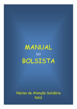 Manual de orientação ao bolsista - PUC