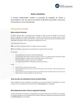 Bolsas e Benefícios - Instituto Singularidades