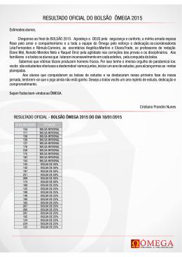 Resultado Quinta Seletiva3011.cdr - Pré
