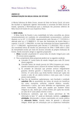 1 ANEXO 03 NORMATIZAÇÃO DA BOLSA SOCIAL DE ESTUDO A