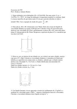 (R = 4122m²/s²K). Em uma seção (1)