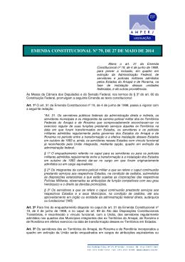 emenda constitucional nº 79, de 27 de maio de 2014