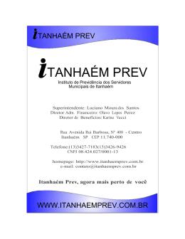TANHAÉM PREV - Instituto de Previdência do Servidores Públicos