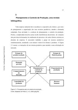 2. Planejamento e Controle de Produção, uma revisão