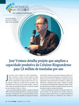 José Ventura detalha projeto que ampliou a capacidade produtiva