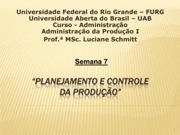 """""""PLANEJAMENTO E CONTROLE DA PRODUÇÃO"""" - SaberCom"""