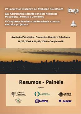 Resumos - Instituto Brasileiro de Avaliação Psicológica